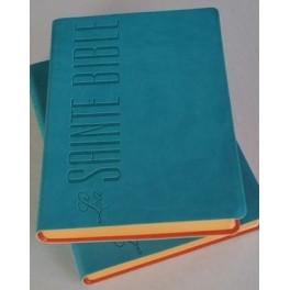 Bible Esaïe 55 Pu Turquoise Tranche Orange