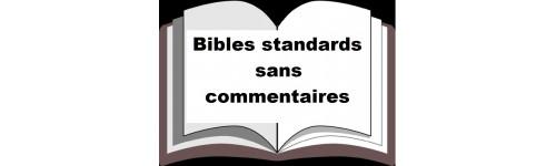 Bibles standards sans commentaires